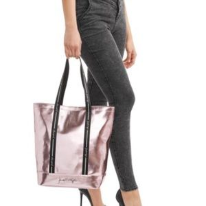NWT Kendall & Kylie Pink Metallic Travel/Tote Bag